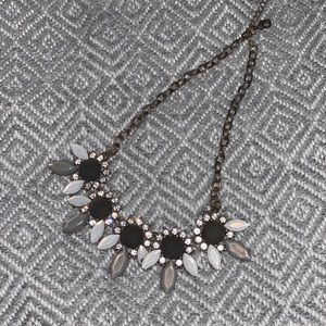 Grey and white statement necklace!